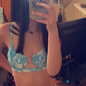 Women's SHEIN snakeskin bathing suit top